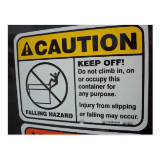 Do Not Climb Sign Postcard