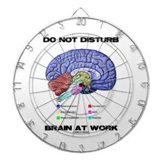 Do Not Disturb Brain At Work (Anatomical Humor) Dartboard