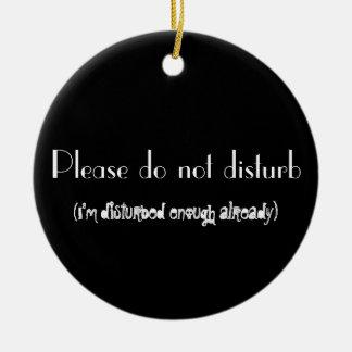 Do not disturb (disturbed already) door hang round ceramic decoration