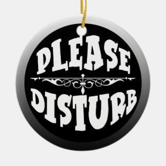 Do Not Disturb Door Hanger for Bedroom Round Ceramic Decoration