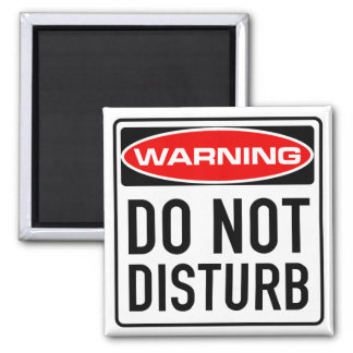 Do Not Disturb Funny Warning Road Sign Square Magnet
