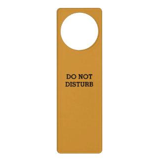 Do Not Disturb Old Gold Door Hanger by Janz