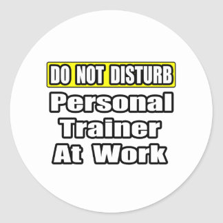 Do Not Disturb...Personal Trainer at Work Round Stickers