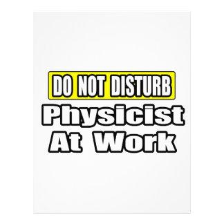Do Not Disturb...Physicist At Work 21.5 Cm X 28 Cm Flyer