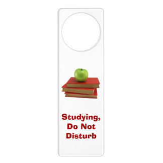 Do Not Disturb Red Books Door Hanger