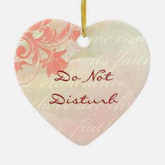 Do Not Disturb Romantic Door Hanger Ceramic Heart Decoration
