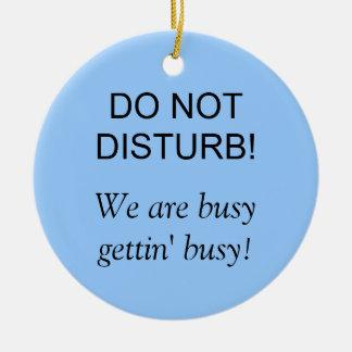 Do Not Disturb Round Ceramic Decoration