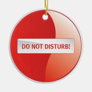 DO NOT DISTURB! ROUND CERAMIC DECORATION