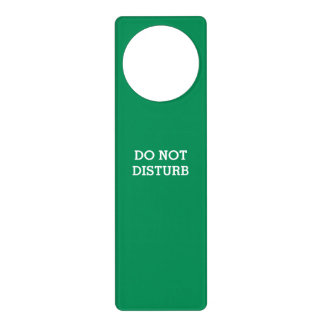 Do Not Disturb Sea1 Green Door Hanger by Janz