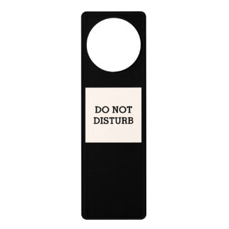 Do Not Disturb Sea Shell Black Door Hanger by Janz