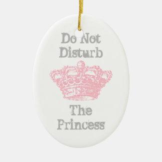 Do Not Disturb The Princess Door Hanger Ceramic Oval Decoration
