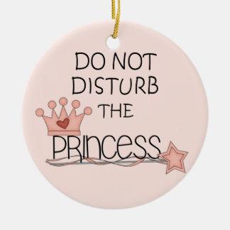 Do Not Disturb the Princess Door Hanger Round Ceramic Decoration