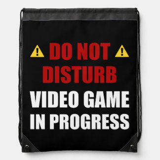Do Not Disturb Video Game Drawstring Bag