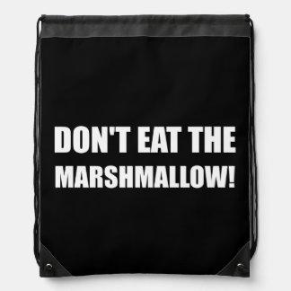 Do Not Eat Marshmallow Test Drawstring Bag