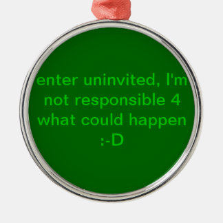 Do not enter, ornament