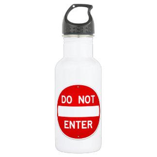 Do Not Enter Sign 532 Ml Water Bottle