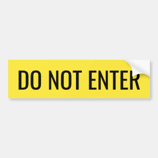Do not enter yellow and black sticker