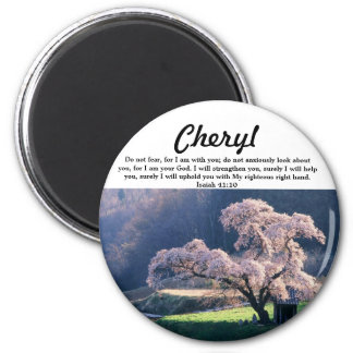Do Not Fear ~ Cherry Blossom (Multiple Products 6 Cm Round Magnet