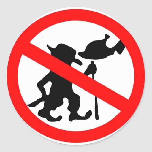 Do Not Feed Troll Round Stickers