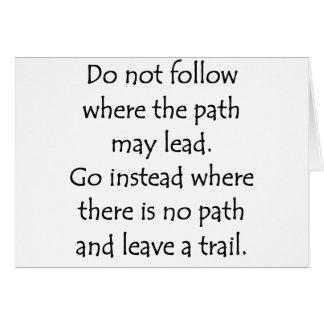 Do Not Follow Card