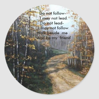 DO NOT FOLLOW I MAY NOT LEAD STICKERS