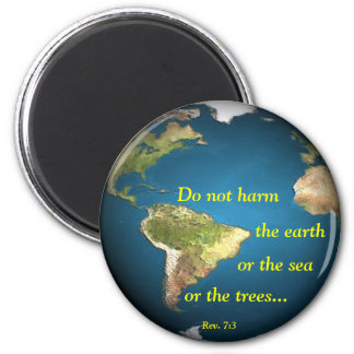 Do Not Harm The Earth (round) Magnet
