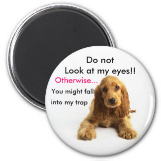 Do not look at my eyes!! magnet