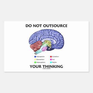 Do Not Outsource Your Thinking (Brain Anatomy) Rectangular Sticker