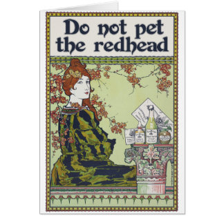 Do not pet the redhead vintage redheaded card