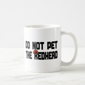 Do Not Pet The Redhead (w/ Wig) Coffee Mug