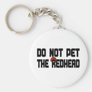 Do Not Pet The Redhead (w/ Wig) Key Chains