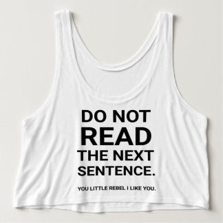 Do not read singlet