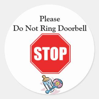 Do Not Ring Doorbell Sticker