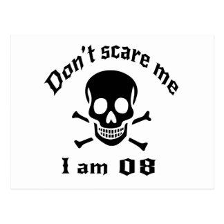 Do Not Scare Me I Am 08 Postcard