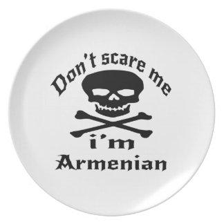 Do Not Scare Me I Am Armenian Plate