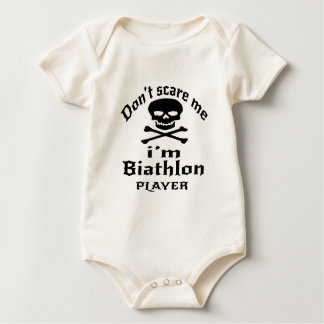 Do Not Scare Me I Am Biathlon Player Baby Bodysuit