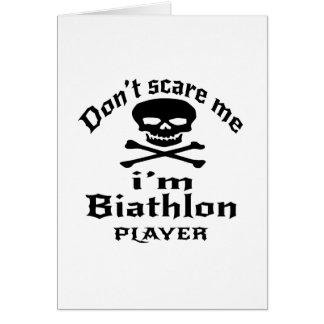 Do Not Scare Me I Am Biathlon Player Card