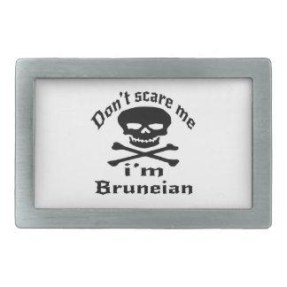 Do Not Scare Me I Am Bruneian Rectangular Belt Buckle