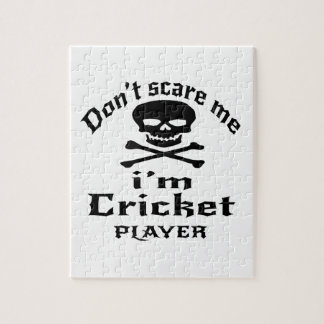 Do Not Scare Me I Am Cricket Player Jigsaw Puzzle