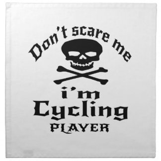Do Not Scare Me I Am Cycling Player Napkin