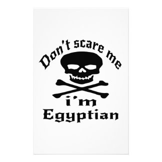 Do Not Scare Me I Am Egyptian Stationery