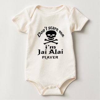 Do Not Scare Me I Am Jai Alai Player Baby Bodysuit