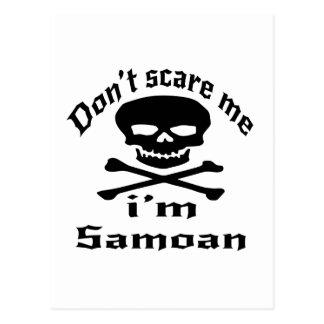Do Not Scare Me I Am Samoan Postcard