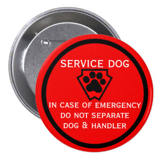 Do Not Separate Dog and Handler Buttons