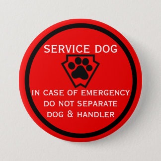 Do Not Separate Dog and Handler Black Paw 7.5 Cm Round Badge