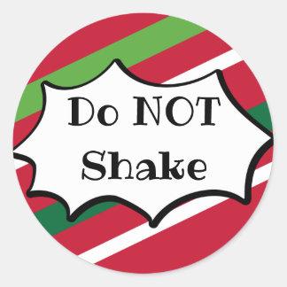 Do NOT Shake Holiday Sticker