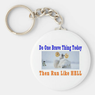 DO ONE GREAT THING TODAY BASIC ROUND BUTTON KEY RING