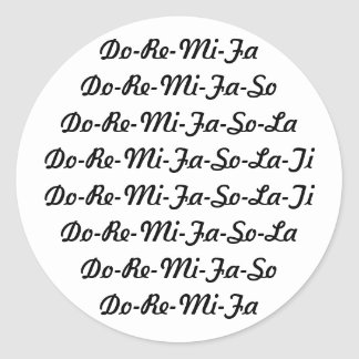 Do-Re-Mi-Fa-So-La-Ti Sticker