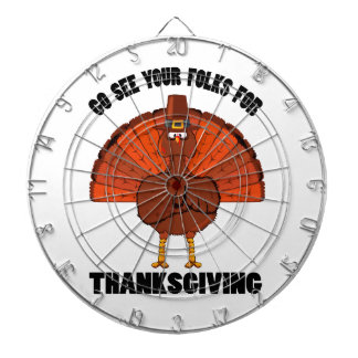 Do See Your Folks For Thanksgiving Dartboard