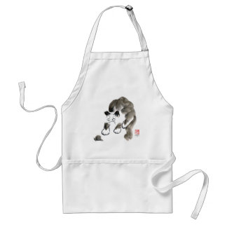 Do Snails Sting? Sumi-e kitten and snail Standard Apron